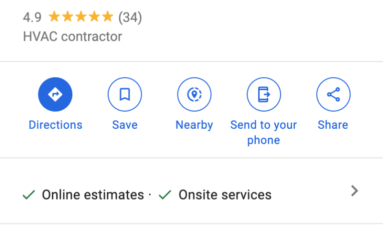google my business attributes