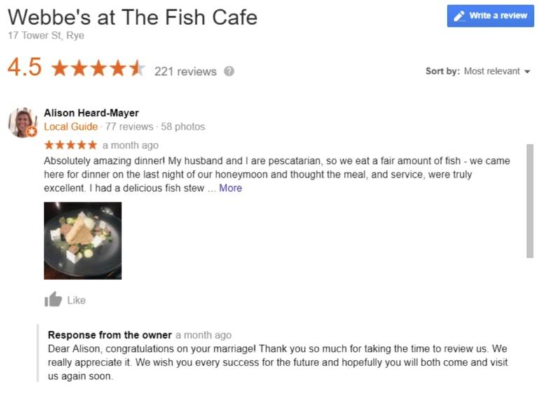 webbes google my business reviews